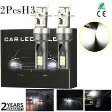 2x H3 6000K White Cree 3030 Led Fog Light Driving Bulbs Headlight Kit High Power(Fits: Neon)