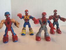 Marvel Toy Biz Rescue Heroes Spiderman & Friends Lot 4 Action Figures Vintage 6""