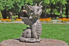 Süsser Gartendrache sitzend Drache Figur Gargoyle