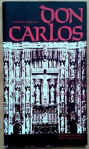 Don Carlos programme English National Opera (ENO) 1985 John Treleaven