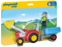 PLAYMOBIL Tractor with Trailer 1.2.3 6964 PLAYMOBIL