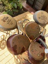 Vintage collectable golf set, bag and trolley Taylor Made Slazenger Dunlop Brosn