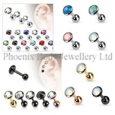 Cubic Zirconia Ear Stud Body Piercing Jewellery