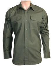 Camicie casual e maglie da uomo verde in cotone