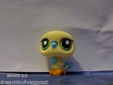 Littlest Pet Shop Creme and Blue Pigeon with Green Eyes #1907