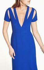 $368 blue BCBGMaxAzria blue cut out maxi gown dress size 0