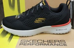 Skechers SKECH-AIR Dynamight Tuned Up Memory Foam Running Fashion Trainers Black