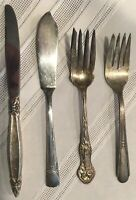 Vintage Silverplate Flatware Lot of 4 Pieces