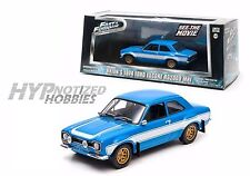 GREENLIGHT 1:43 FAST & FURIOUS 6 2013 1974 BLUE FORD ESCORT RS2000 MK1 86222