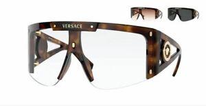 VERSACE VE4393 52171W Havana Rectangle Women's 46 mm Sunglasses