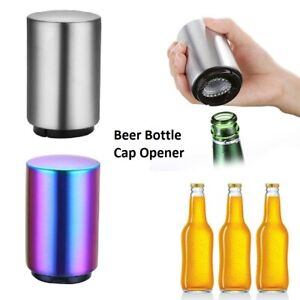 Magnetic Stainless Steel Beer Opener Automatic Bottle Opener Push Down Opener