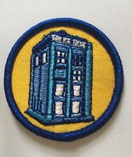 Dr Who Tardis Small Size: 4.5cm embroidery patch ( 1 patch) Iron On