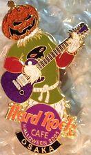 Hard Rock Cafe OSAKA 2001 HALLOWEEN PIN Scarecrow Pumpkinhead Guitar HRC #7137