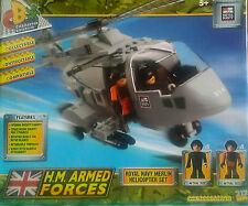H.M. fuerzas armadas Royal Navy Merlin helicóptero Set-En Caja-Personaje edificio