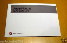 VAUXHALL CORSA ASTRA VECTRA ZAFIRA AUDIO MANUAL CD30 CD30 MP3