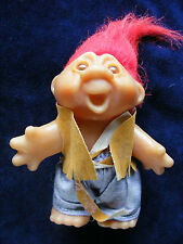 """1986 5"""" Dam Troll - Red Haired in a Fringed Waistcoat and Jeans"""