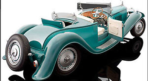 Bauer 1932 Bugatti Royale Esders Green Color 1/18 Scale. Hard to find!