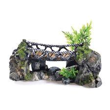 """Classic Rocky Rope Bridge 10"""" Aquarium Fish Ornament"""