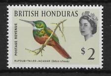 BRITISH HONDURAS SG212 1962 $2 BIRD DEFINITIVE MNH