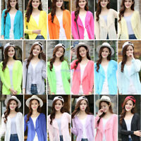 Women Ladies Cardigan Loose Sweater Long Sleeve Knitted Outwear Jacket Coat Tops