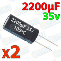 2x Condensador 2200uF 35v electrolitico 105ºC 20% 13x21 PCB PIC Arduino