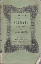 L ARTISTA ED IL SOLDATO  Vol. II di Vittorio Ducange 1846 Cirillo Editore