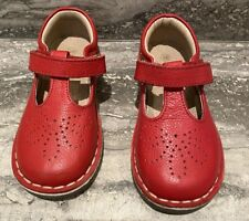 MINI BODEN-TODDLER/BABY GIRL-BEAM RED-LEATHER T-BAR FLATS-SIZE:25(US 9)-MINT!