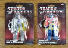 NIP Transformers Lot of 2 Bag Clip Optimus Prime and Megatron