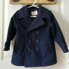 Dark Navy Blue Boys Pea Coat (2T) Janie And Jack