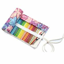 Multipurpose 72 Slots Travel Drawing Coloring Pencil Roll Organizer For Art I4I7