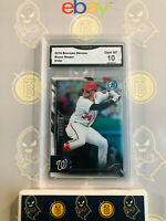 2016 Bowman Chrome Bryce Harper #100 - 10 GEM MINT GMA Graded Baseball Card