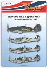 Vingtor Decals 72104 1:72 Hurricane Mk.II and Spitfire Mk.V Norwegian Sqns RAF