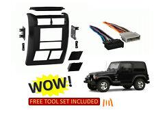 97-02 JEEP WRANGLER Car Stereo Installation Double Din Dash Kit SE SPORT SAHARA