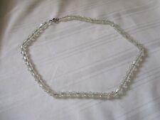 "Vintage faceted crystal necklace 16"""