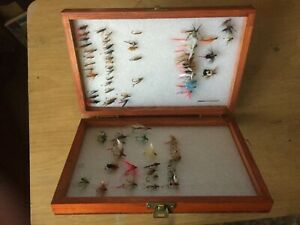 Vintage Box of Trout Flies Wet and Dry
