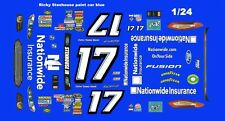 #17 Ricky Stenhouse Ford Fusion 1/25th - 1/24th Scale Waterslide Decals