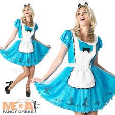 Sassy Alice in Wonderland Ladies Fancy Dress Disney Fairy Tale Adults Costume