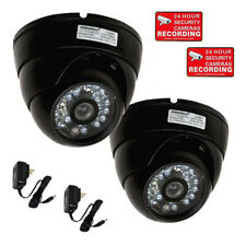 2x Outdoor Security Camera Dome Wide Angle CCD IR LEDs Day Night Vision CCTV m2s