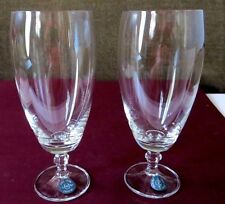 2 Lenox Crystal Water Wine Goblet Stemmed Glass NWT Signed