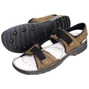 Josef Seibel  Women's  Carrie Ladies Suede Summer Strap Sandals Olive UK 9