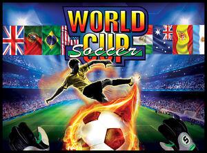 World Cup Soccer Pinball Alternate Translite (3 versions)