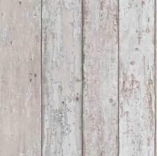 Grey & Brown Wood Effect Wallpaper Distressed Look Grains Boards Erismann