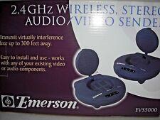 Emerson Brand New In Box 2.4 GHZ Wireless Stereo Audio/Video Sender EVS5000
