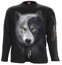 Spiral - WOLF CHI - Long Sleeve T-Shirt, /Biker/Goth/Native Indian/Wolf/Top