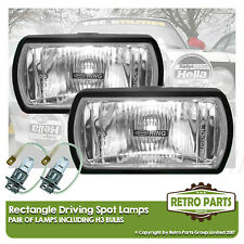 Rectangle Driving Spot Lamps for Volvo V40. Lights Main Beam Extra