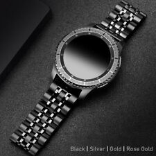 For Samsung Galaxy Watch 3 45/46mm Gear S3 Stainless Steel Link Band Wrist Strap