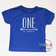 1st Birthday Shirt Baby Boy or Girl One and Only Bday Cake Smash Bodysuit Gift