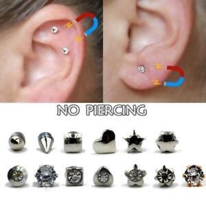 Tinny Magnetic Nose Ear Tigrus Stud Earring No Piercing