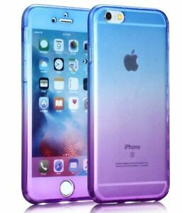 360 TWO TONE Silicone Protective Clear Cases iPhone 6 7+ 8 Plus BUY 2 GET 1 FREE
