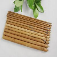 Cn _ Ne _ 12 Taille Bambou Poignée Crochet Tricot Armure Fil Tricot Aiguilles S